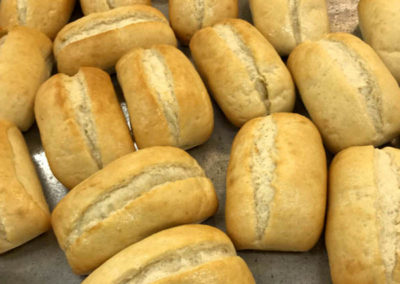 Fresh bread rolls catering