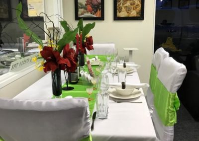 table set up baxters catering