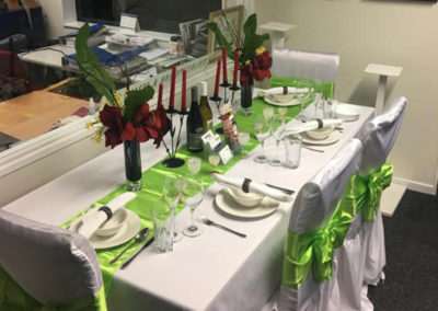 catering table set up wellington