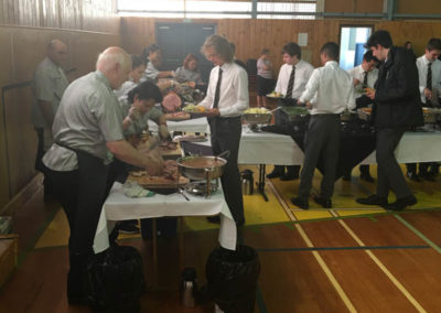 school hall catering Wellington
